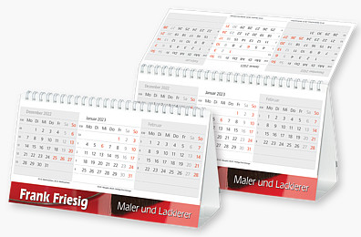 """3-Monats-Tischkalender """"Desktop"""" DT 12"""
