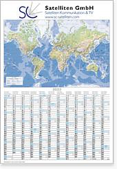 """Plakatkalender """"Globus international"""" MW 12i"""