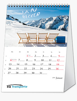"Bildpersonalisierter Tischkalender ""Basic"" KFSB"