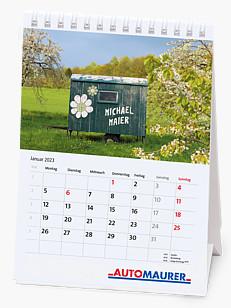 Bildpersonalisierter Tischkalender im Hochformat KFTKH